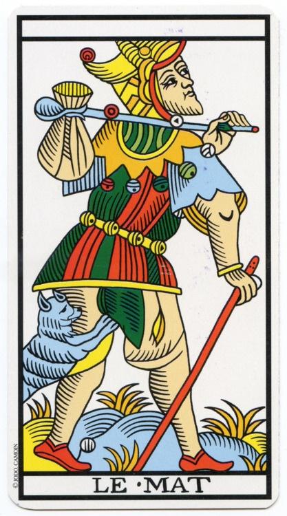 Tarot - le mat - Tribu Zen - le voyage